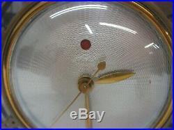 Vtg TELECHRON Casino Art Deco Clock Amethyst Mirror Glass Model 4F71