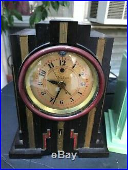 WOW Rare Art Deco Skyscraper Telechron Clock s Set of 3