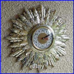 Welby Art Deco Wall Clock Starburst Sunburst 20 Quad Chime And Strike