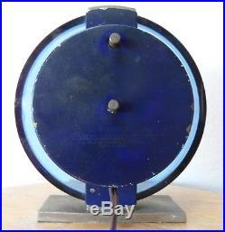 Westclox Andover S2L electric mantel clock vintage 1938-1942 art deco blue glass