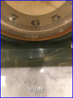 Whitehall Hammond Synchronous Movement 1920s Art Deco Green Onyx Mantel Clock