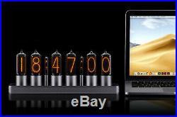 ZIN18 IN18 Nixie Tube Clock Silver Classic Aluminium Case WIFI Android/Iphone